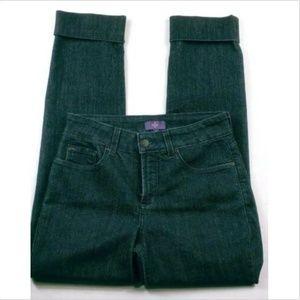 NYDJ Women's Lift Tuck Jeans Size 2 Dark Cuffed